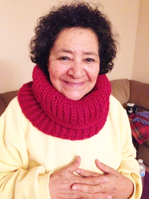 Mom's new cowl scarf