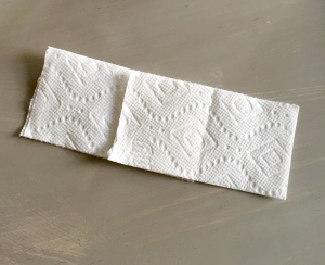 6) No do the same with another towelette and then overlap them together
