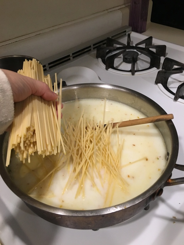 Add pasta noodles